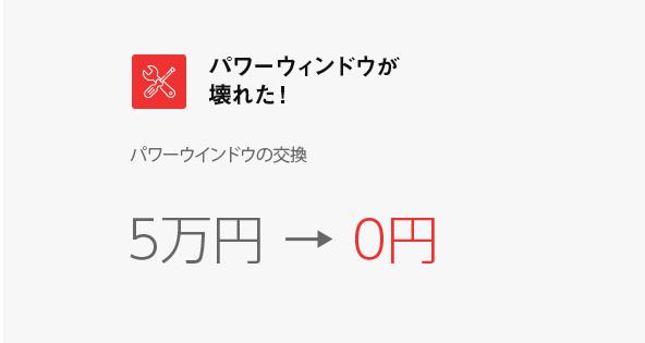 パワーウィンドウが壊れた!パワーウインドウの交換5万円 → 0円